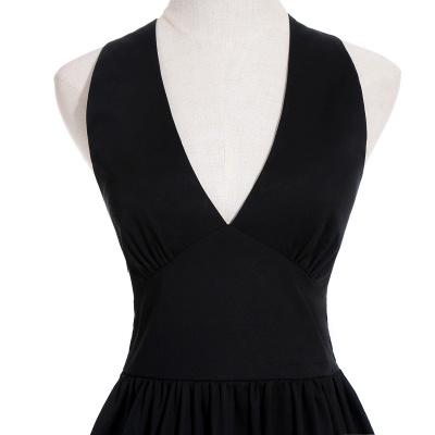 Abendkleider V Ausschnitt   Schwarze Cocktailkleider Kurz_13