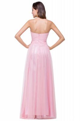Schlichte Abiballkleider | Abendkleid Lang Rosa_3