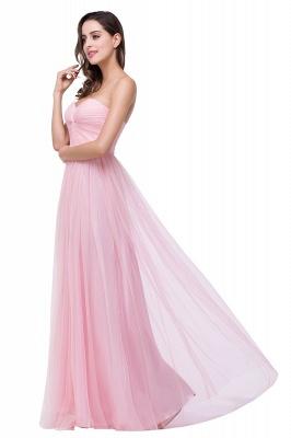 Schlichte Abiballkleider | Abendkleid Lang Rosa_6