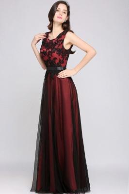 Abendkleider Rot Schwarz | Abiballkleider Lang Günstig_7