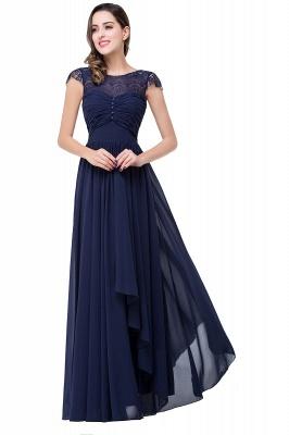 Schlichtes Abendkleid Navy Blau | Abiballkleider Lang Günstig_5