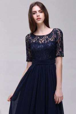 Blaue Abendkleider Lang Günstig | Abiballkleider mit Ärmel_12