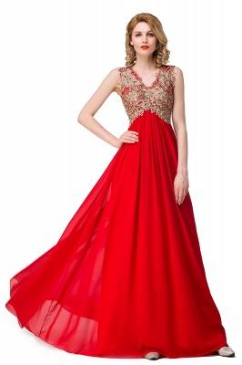 Abendkleid Lang V Ausschnitt | Rote Abiballkleider Günstig_9