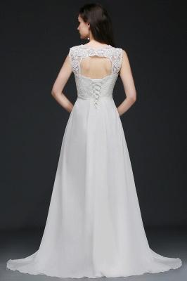Schlichtes Brautkleid | Chiffon Hochzeitskleider Günstig Online_3