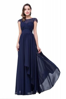 Schlichtes Abendkleid Navy Blau | Abiballkleider Lang Günstig_6
