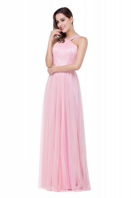 Abendkleid Lang Rosa | Schlichtes Abiballkleid Günstig_5