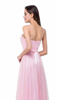 Schlichtes Abiballkleid | Abendkleider Lang Rosa_7