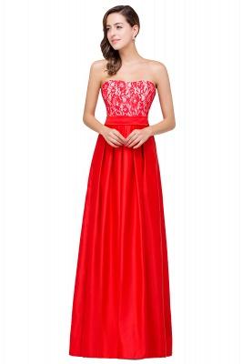 Rote Abendkleider mit Spitze   Abiballkleider Lang Günstig_2