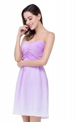 Lavender Cocktailkleider kurz | Schlichtes Abendkleid Online_5