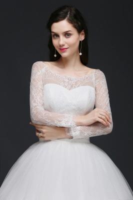 Schlichtes Hochzeitskleid mit Spitze | Prinzessin Brautkleider_5