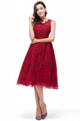 Rotes Cocktailkleider Kurz | Abendkleider mit Spitze_6