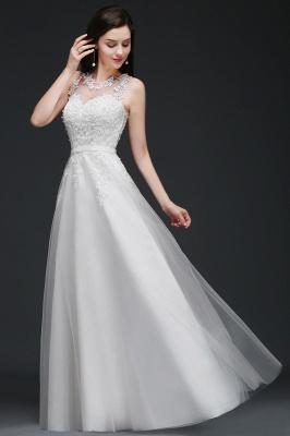 Schlichtes Hochzeitskleid A Linie | Brautkleider mit Spitze_8