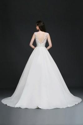 Schlichtes Hochzeitskleid | Brautkleider A Linie Online_7