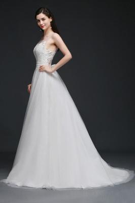 Schlichtes Brautkleid Online | Hochzeitskleid A Linie_6