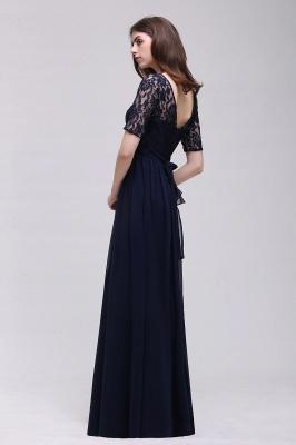 Blaue Abendkleider Lang Günstig | Abiballkleider mit Ärmel_11