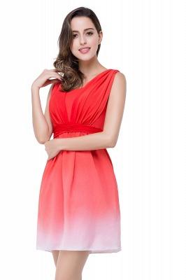 Schlichtes Abendkleid Rot | Cocktailkleider Kurz_8