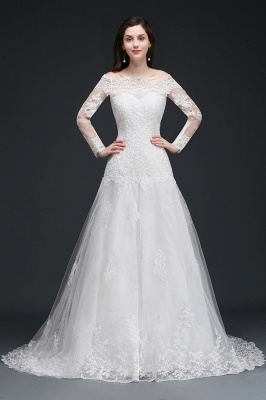 Elegante Hochzeitskleider mit Ärmel | Brautkleid A Linie