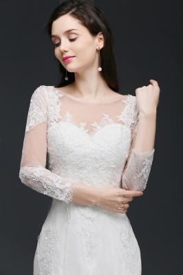 Schliches Brautkleid Meerjungfrau | Hochzeitskleider mit Spitze_7