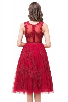 Rotes Cocktailkleider Kurz | Abendkleider mit Spitze_4