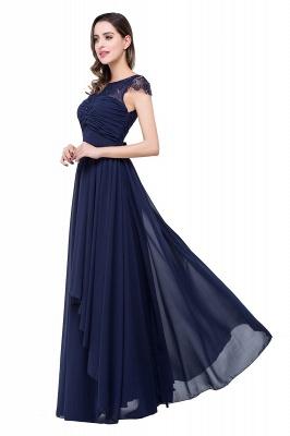 Schlichtes Abendkleid Navy Blau | Abiballkleider Lang Günstig_9