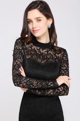 Schwarzes Cocktailkleid   Abendkleider mit Ärmel_7