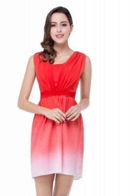 Schlichtes Abendkleid Rot | Cocktailkleider Kurz_4