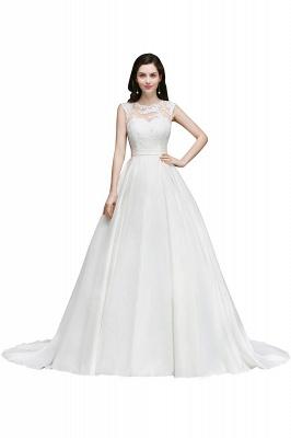 Schlichtes Hochzeitskleid | Brautkleider A Linie Online_1