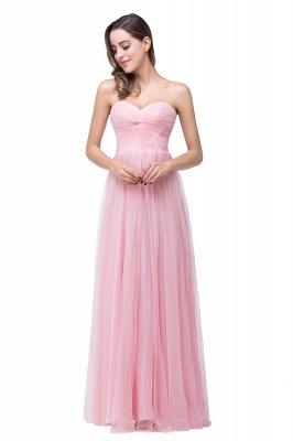 Schlichte Abiballkleider | Abendkleid Lang Rosa_2