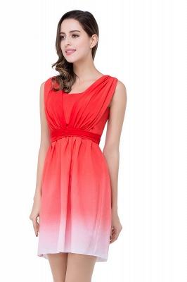 Schlichtes Abendkleid Rot | Cocktailkleider Kurz_6