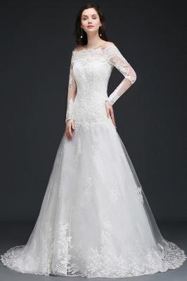 Elegante Hochzeitskleider mit Ärmel   Brautkleid A Linie_5