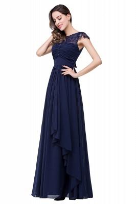 Schlichtes Abendkleid Navy Blau | Abiballkleider Lang Günstig_10