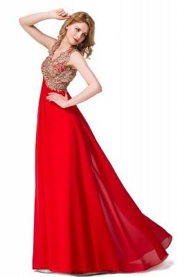Abendkleid Lang V Ausschnitt | Rote Abiballkleider Günstig_7