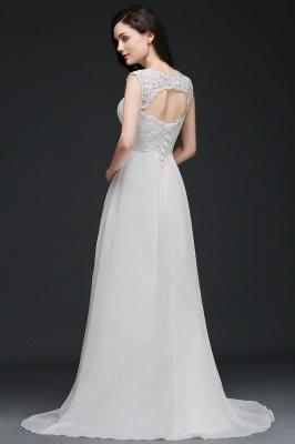 Schlichtes Brautkleid | Chiffon Hochzeitskleider Günstig Online_5