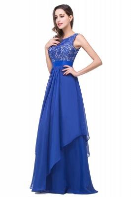 Schlichtes Abendkleid Blau | Abendkleider Lang Günstig_8