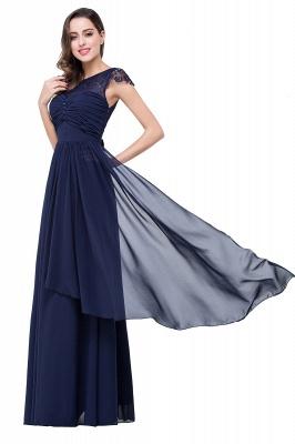 Schlichtes Abendkleid Navy Blau | Abiballkleider Lang Günstig_13