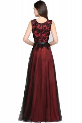 Abendkleider Rot Schwarz | Abiballkleider Lang Günstig_5