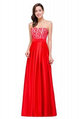 Rote Abendkleider mit Spitze   Abiballkleider Lang Günstig_8