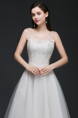 Schlichtes Brautkleid Online | Hochzeitskleid A Linie_5