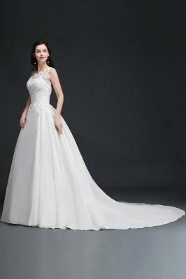 Schlichtes Brautkleid Satin | Prinzessin Hochzeitskleider Günstig_5