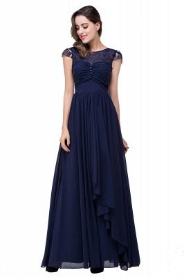 Schlichtes Abendkleid Navy Blau | Abiballkleider Lang Günstig_8