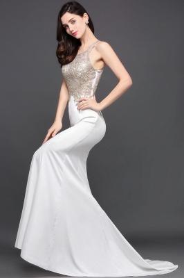 Abendkleider Lang Weiß | Abiballkleider mit Glitzer_7