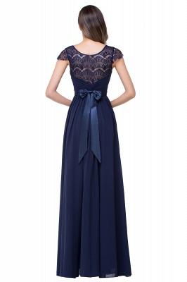 Schlichtes Abendkleid Navy Blau | Abiballkleider Lang Günstig_4