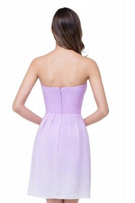 Lavender Cocktailkleider kurz | Schlichtes Abendkleid Online_3