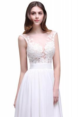 Schlichtes Brautkleid | Chiffon Hochzeitskleider mit Spitze_5