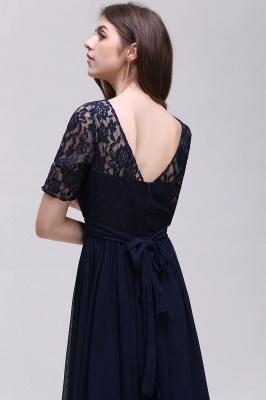 Blaue Abendkleider Lang Günstig | Abiballkleider mit Ärmel_14