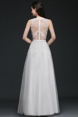 Schlichtes Hochzeitskleid A Linie | Brautkleider mit Spitze_4
