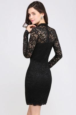 Schwarzes Cocktailkleid   Abendkleider mit Ärmel_6