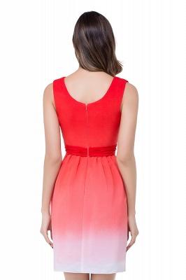 Schlichtes Abendkleid Rot | Cocktailkleider Kurz_3