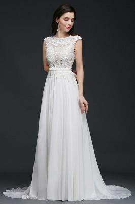 Schlichtes Brautkleid Günstig | Hochzeitskleider A Linie_5