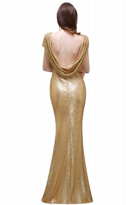 Gold Abendkleider Lang   Abiballkleider mit Glitzer_8
